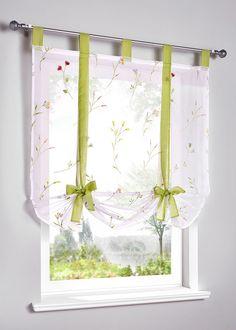 "Tenda a pacchetto ""Jana"" Verde - Casa - bonprix. Linen Curtains, Curtains With Blinds, Paper Flowers Craft, Curtain Designs, Curtain Ideas, Window Dressings, Colorful Curtains, Roman Blinds, Kitchen Curtains"