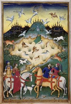 Traité de fauconnerie et de vénerie avec la devise et l'emblème du duc de Sforza Ecole : Ecole italienne 15e siècle, période du Bas Moyen Âge (Europe occidentale)