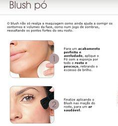 Aplicando o blush