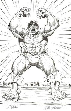 Hulk Commission - in Brian Rhodes's Sal Buscema Comic Art Gallery Room Comic Book Pages, Comic Books, Marvel Heroes, Marvel Comics, Hulk Movie, Sal Buscema, Hulk Art, Tales Of Suspense, Hulk Avengers