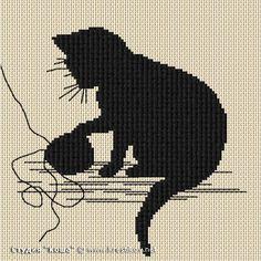 """Схема """"Котенок с клубком""""   вышивка крестиком от Студии """"Коша"""""""