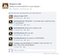 Luffy's posts on FACEBOOK