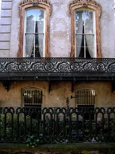 new orleans houses wrought iron balcony and veranda | Wrought Iron Gates & Fences in Savannah, Click to see more