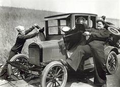 Stan Laurel and Oliver Hardy as sailors, puling the fenders off a Model T Ford while worried driver looks on. Movie still, Get premium, high resolution news photos at Getty Images Laurel And Hardy Movies, Laurel Et Hardy, Stan Laurel Oliver Hardy, Comedy Duos, Great Comedies, Silent Film, Ford Models, Celebrity Photos, Classic Cars
