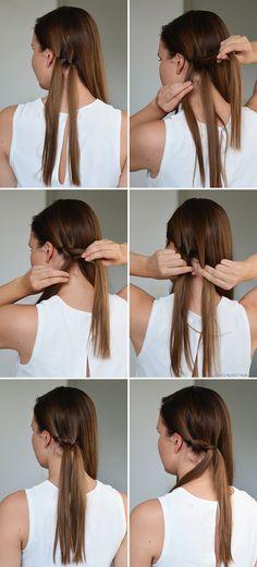 Kampaustutorial: juhlava ja helppo kiepautusletti-chignon // Hair tutorial: Pull Through Braid Chignon