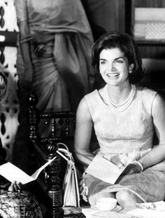Unpublished- Jackie Kennedy during her visit to India in 1962