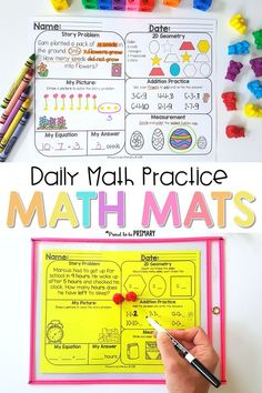 Math Mats for first
