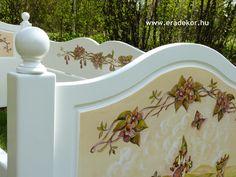 Anna névreszóló tömörfenyő indásvirágos-manós mintával festett fehér gyerekágy. Fotó azonosító: AGYANN36 Anna, Home Decor, Homemade Home Decor, Decoration Home, Interior Decorating
