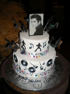 Rock and Roll Elvis Specialty Cake