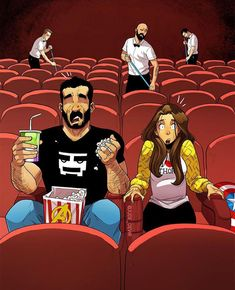 Yehuda Devir is a comic artist who describes married life in a humorous, authentic and identifying way. His illustrations are the most interesting. Cute Couple Comics, Couples Comics, Cute Couple Art, Cute Comics, Funny Couples, Funny Comics, Funny Cartoons, Cartoon Cartoon, Couple Cartoon