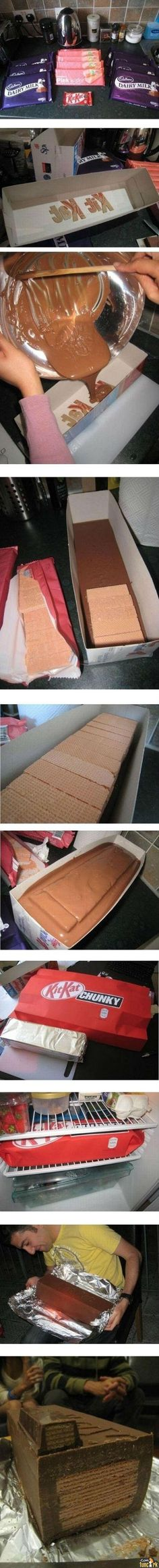 PICTURE: How to make a LIFE SIZED Kit-Kat