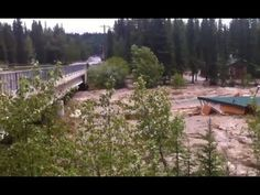 House Smashes Against Bridge | Bragg Creek Alberta Flood 20/06/2013 *  C-L-I-M-A-T-E  C-H-A-N-G-E  *  IS  NO  LAUGHING  MATTER . . . ! !  *   *  BE  PRO-ACTIVE  *  FIGHT  AGAINST  *   *  GLOBAL  WARMING  *