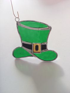 Handmade Stained Glass Leprechaun's Hat by QTSG on Etsy