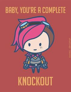 """Baby, you're a complete knockout."" Vi Valentines Day card :: League of Legends League Of Memes, Valentine Words, Valentine Day Cards, Valentines, Taking Back Sunday, League Of Legends Cards, Memes Liga, Vi Lol, Fanart"