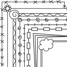 Simple Page Borders Use these simple borders to 'jazz' up any worksheets or products you are creating.Includes 8 different simple borders. Each style comes with a white and clear background. That's 16 borders in total. Tangle Doodle, Doodles Zentangles, Zentangle Patterns, Peyote Patterns, Embroidery Patterns, Hand Embroidery, Doodle Borders, Page Borders, Doodle Drawings