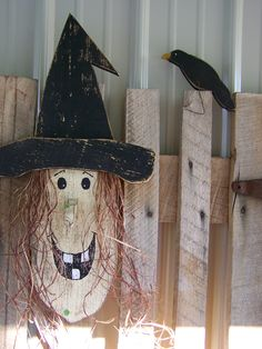 """Meet Matilda! She was a fun to design...and I love how she turned out! The next one gets an old rusty buckle, bat, spider of whatever I can find attached to her hat! Handcrafted and designed here at """"Doty's Primitive Porch"""" by Karen Doty."""