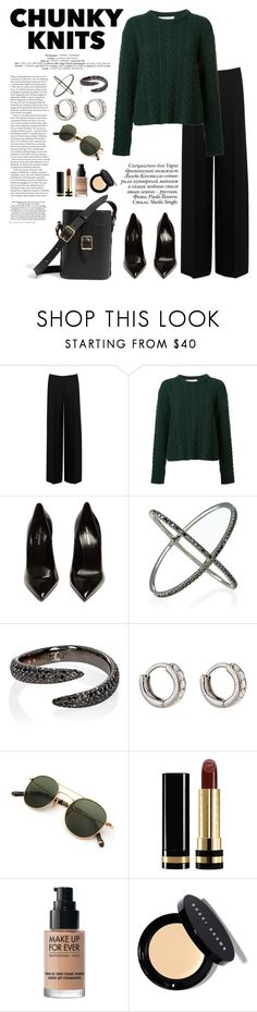 """""""Chunky Knits"""" by windrasiregar ❤ liked on Polyvore featuring Alexander McQueen, Ryan Roche, Yves Saint Laurent, Paolo, Eva Fehren, Gucci, MAKE UP FOR EVER and Bobbi Brown Cosmetics"""