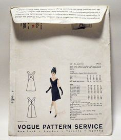 RARE Vintage 1960s Dress Vogue Paris Original Gres Sewing Pattern Size 16 1507 | eBay