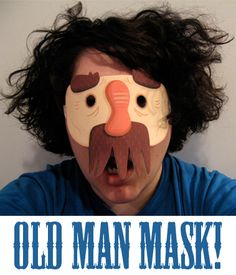Old Man Face Mask! by Rosemary Travale, via Flickr