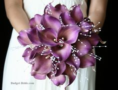 Love the small beads - add some red and white callas and I found a bouquet!
