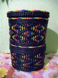 Поделка изделие Плетение Схемы для ситца  Бумага Бумага газетная Трубочки бумажные фото 1