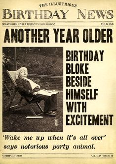 Fleet Street card - Birthday bloke beside himself with excitement | Comedy Card Company