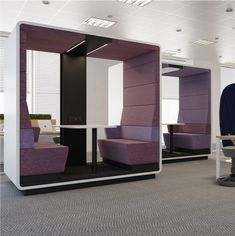 Hush Open Booth | acoustic meeting pod | My Office Pod Cable Grommet, Office Pods, Translucent Glass, Open Office, Safety Glass, Hush Hush, Acoustic, Home, Design