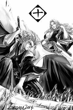 characters Toshiro Hitsugaya and Rangiku Matsumoto from Bleach by zzyzzyy de. - ı am anime Bleach Anime, Bleach Fanart, Manga Anime, Manga Art, Anime Art, Shinigami, Bleach Characters, Anime Characters, Awesome Anime