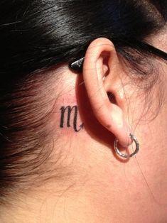 03 Scorpio Zodiac Symbol Tattoo