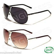 New Black Aviator Vintage Retro Mens Ladies Unisex Designer Large Sunglasses