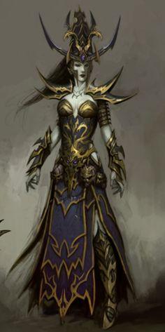 Warhammer Dark Elf Sorceress