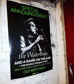 .. one of my fave tunes! 'Bought this poster from a shop in Arklow just before the record made it to the top of the music charts back in Ireland on this day 30 years ago. ...And a Bang on the Ear! ..great tune from a great album called 'Fisherman's Blues' by The Waterboys. . . . #thewaterboys #fishermansblues #andabangontheear #vinyl #vinyllife #mikescott #1989 #postercollector #records #mickpuck #ensignrecords #musicposter #vinyligclub #vinylcommunity #vinyljunkie #vinyloftheday #poster…