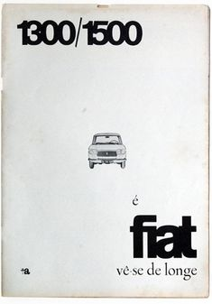 Portuguese advertising for Fiat, dated February 1964.