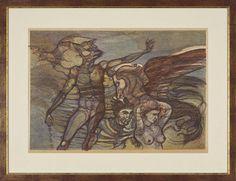 Obraz, grafika, Ivan Horyna, Ovídius - Premenený, 102 €, 84 x 64 cm