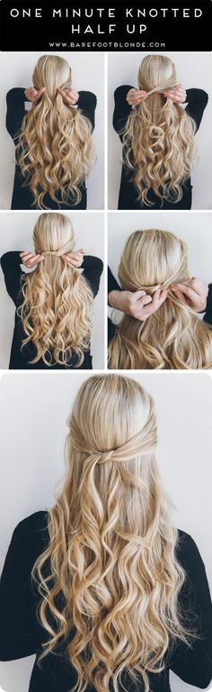 47 Easy Half up Half down Hairstyles 2017 (Step by Step) #PromHairstylesMessy