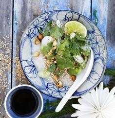 Aasialainen kanacongee by Valkoinen Harmaja  #HomeDecor, #Kana, #Kanacongee, #Reseptit, #Riisi, #Riisipuuro, #Risotto, #Ruoka