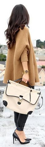 GReat outfit - love the oversized bag and jacket.  Beautiful shoes too!