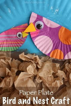 Adorable Bird and Nest Craft with Cupcake Liners and Paper Plates