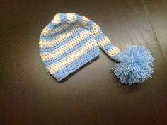 Newborn crochet hat.