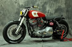"""Harley Davidson Dyna Superglide Street Tracker """"Gabrielle"""" by XTR Pepo #motorcycles #streettracker #motos 
