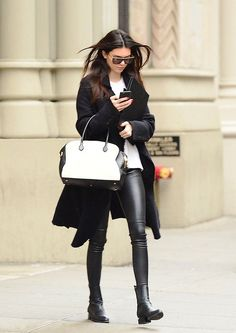 siyah tayt kışın nasıl giyilir 2016