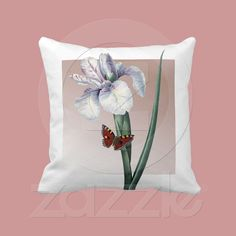 Iris with Butterfly pillow from Zazzle.com