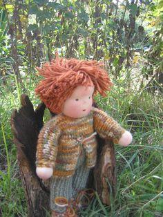 Waldorf type knitted Boy doll by FeltingZsuska on Etsy Boy Doll, Teddy Bear, Dolls, Christmas Ornaments, Type, Holiday Decor, Gifts, Etsy, Baby Dolls