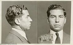 Charles 'Lucky' Luciano's mugshot on April 18, 1936 - two months before he was sentenced to 30 to 50 years in jail for leading a $ 12-million-a-year  prostitution ring