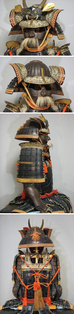 Tetsu kurourushi nuri mogami domaru gusoku - Edo period / 鉄黒漆塗最上胴丸具足 江戸時代