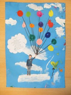 Ik ben in de wolken van jou fathers day day diy day food ideas day gifts from kid day cake day crafts Toddler Crafts, Crafts For Kids, Fathers Day Pictures, Cute Teacher Gifts, Children's Church Crafts, Balloon Crafts, Up Theme, Father's Day Diy, Preschool Christmas