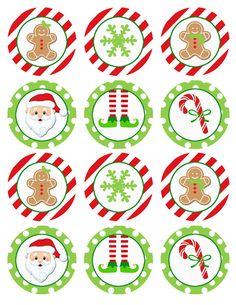 Christmas Cupcake Toppers, Christmas Cupcakes, Christmas Tag, Simple Christmas, Xmas, Christmas Stickers Printable, Printable Stickers, Christmas Printables, Sugar Scrub Diy