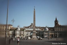 Photos of Piazza del Popolo with a view of the obelisk (Rome)