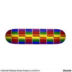Colored Columns Gone Crazy Skate Boards