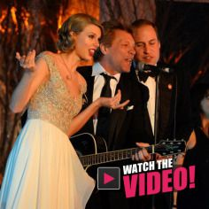 Taylor Swift and Prince William got on stage with Jon Bon Jovi at a charity event and sang along with him for Radar Online, Charity Event, Jon Bon Jovi, Prom Dresses, Formal Dresses, Prince William, Taylor Swift, The Best, Singing